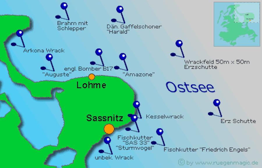 Ostsee Karte Rügen.Tauchen Rügen Tauchrevier Tauchen Rügen Tauchen In Der Ostsee